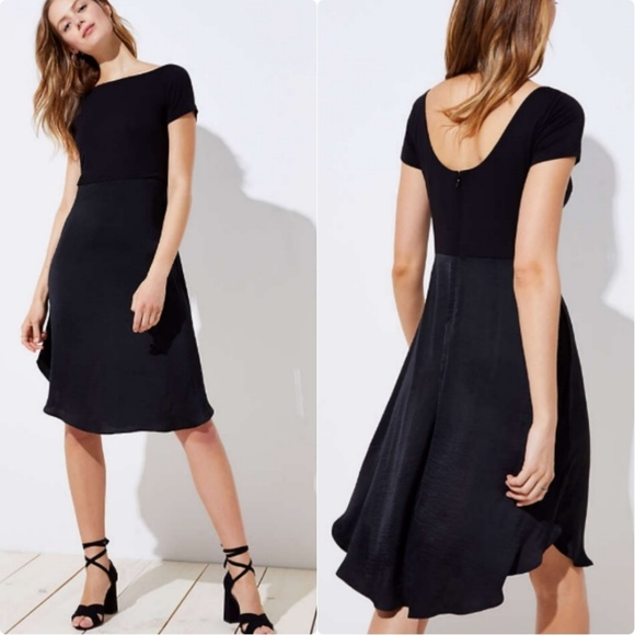 9d5fe6cd2d9c LOFT Dresses | New Modern Mixed Media Midi Dress | Poshmark